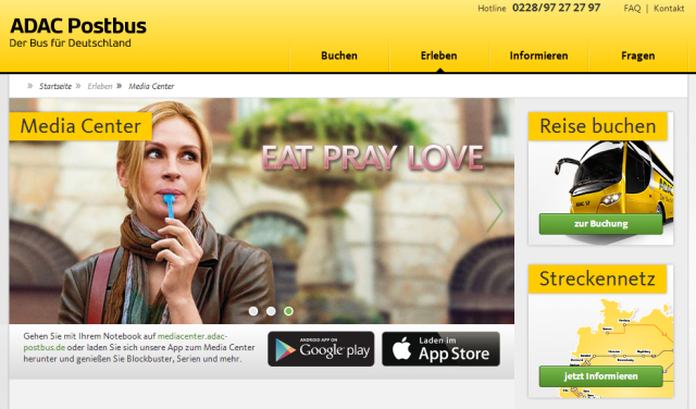 ADAC Postbus - Eat Pray Love